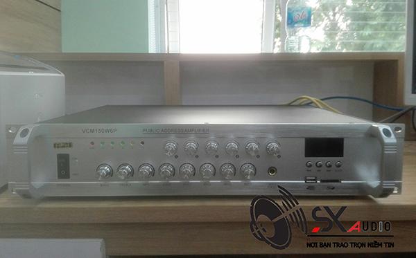 Amply APU VCM 150W chuyên dùng cho loa âm trần, loa nén phóng thanh